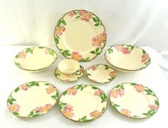 Vintage 9 piece Lot of Franciscan Desert Rose Chipped Craft USA 1953 - 1962 #Franciscan