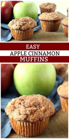 Easy Apple Cinnamon Muffins recipe from You can find Apple recipes and more on our website.Easy Apple Cinnamon Muffins recipe from Apple Dessert Recipes, Köstliche Desserts, Delicious Desserts, Apple Deserts Easy, Cooking Apple Recipes, Cake Recipes, Dinner Recipes, Meal Recipes, Seafood Recipes