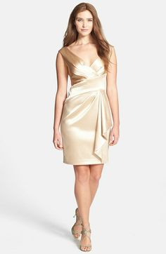 Maggy London Gathered Luster Crepe Dress available at #Nordstrom