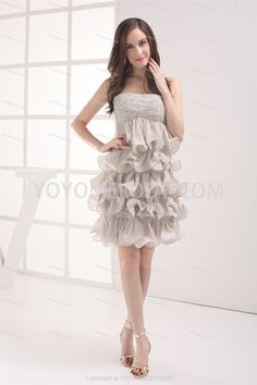 ChicModern White Chiffon Short/Mini Sheath/Column Homecoming Dress @YoYoMelody