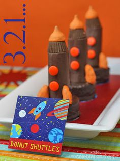 Rocket ship goodies to go with Your out of this world Valentine