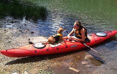 Kayaking with the dog #rockcreek #kayaking