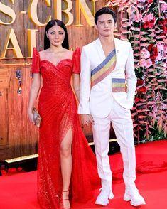 Nadine Lustre and James Reid Modern Filipiniana Gown, Filipiniana Wedding, Wedding Gowns, Prom Themes, Diamond Dress, Nadine Lustre, Nice Dresses, Formal Dresses, Formal Looks