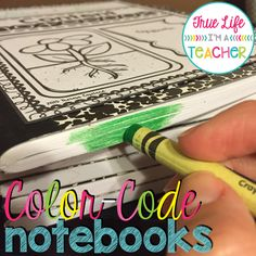 Color coding notebooks
