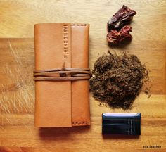 Leather tobacco pouch -handmade tobacco case on Etsy, $70.00