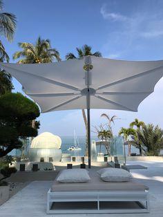 Cantilever Umbrella, Fabric Structure, Patio Shade, Parasol, Lombok, Outdoor Furniture, Outdoor Decor, Resorts, Exterior Design