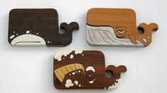 how awesome are these wooden whales?!