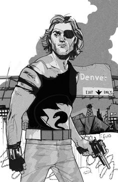 Snake Plissken by Fiona Staples. Snake doesn't look quite as grizzled as he should but hey, still a great piece.