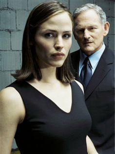"""Jennifer Garner and Victor Garber, """"Alias"""".WHAT A GREAT PAIRING THEY WERE..ALIAS;ONE OF MY TOP TEN SHOWS EVER..."""
