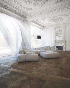 French Living Room Photo courtesy of - Interior Design Ideas 2019 French Living Rooms, Living Room Photos, Home And Living, Living Spaces, Modern Living, Home Interior Design, Interior Architecture, Interior Decorating, Interior Design Traditional