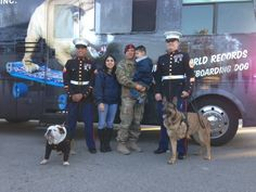 Tillman with the reunited military family at the Natural Balance Rose Parade float 2013.