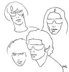 #velvetunderground #LouReed #JohnCale #MaureenTucker #SterlingMorrison #portrait #illustration #kentaueoka #ウエオカケンタ