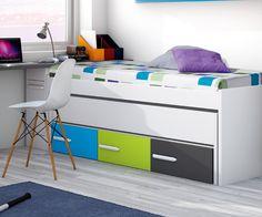 Muebles Tuco compactos camas + cajones para dormitorios juveniles. 2