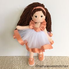 Amigurumi birthday girl crochet doll