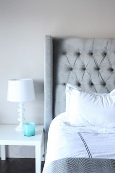 DIY headboard! This seems really easy! Yes!