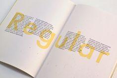 Font Book by Pin-Ju Chen, via Behance