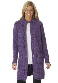 Sweater, marled cardigan jacket #PlusSize #womanwithin