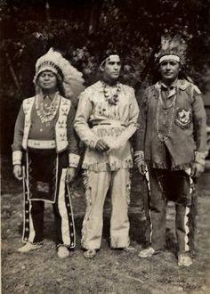 Freeman C. Johnson, Charles Bahr, George Herkimer - Iroquois (Seneca) during Indian Day at Ellison Park in Monroe County, New York - circa 1947