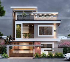 Mayra Kennya F. Best Modern House Design, Modern Exterior House Designs, Latest House Designs, Dream House Exterior, Exterior Design, House Outer Design, House Outside Design, House Front Design, Small House Design