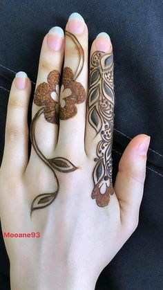 Latest Henna Designs, Floral Henna Designs, Finger Henna Designs, Mehndi Designs Book, Arabic Henna Designs, Stylish Mehndi Designs, Mehndi Designs For Beginners, Mehndi Design Pictures, Mehndi Designs For Girls