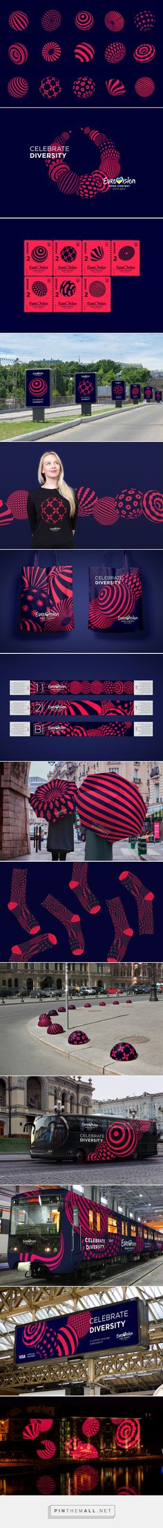 Brand New: New Logo and Identity for Eurovision Song Contest 2017 by banda.agency and Republique... - a grouped images picture - Pin Them All
