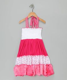 Take a look at this Pink & White Convertible Dress - Toddler & Girls by Rated G on #zulily today!