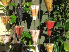 ceramic rain chain elements