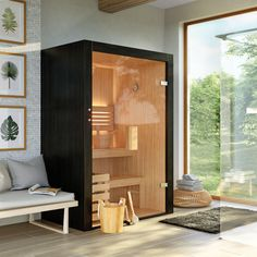 Basement Sauna, Sauna Room, Home Spa Room, Spa Rooms, Design Sauna, Affordable Prefab Homes, Hot Tub Patio, Outdoor Sauna, Bathroom Interior Design