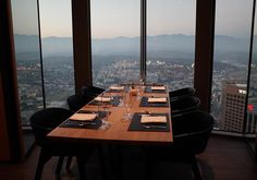 Dinner above Los Angeles  #dinnerwithaview #71above