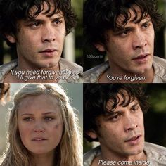"#The100 2x16 ""Blood Must Have Blood, Part Two"" - Bellamy and Clarke"