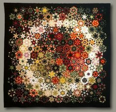 Stunning quilt by Bruce Seeds called The Ring - 82 x 82 Quilt