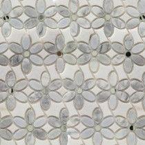 Highland Zinnia Carrara and Thassos Mirror and Marble Tile