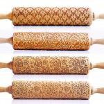 New Laser Engraved Rolling Pins by Valek Imprint Elaborate Designs on Baked Goods - This is a game changer