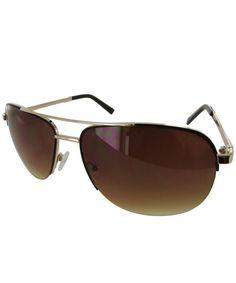 b75d153ca8 Mens GF0164 Semi Rimless Wire Frame Fashion Sunglasses - Gold Brown -  C112LWO1GEN