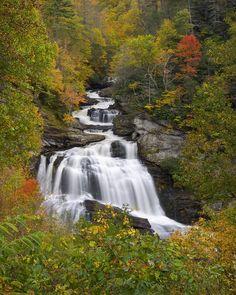 Cullasaja Falls, Highlands, North Carolina, Smoky Mountains National Park; photo by Dave Allen