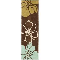 Safavieh Handmade Avant-garde Gardens Brown Rug (2'6 x 12')