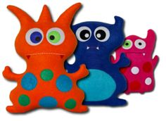 Handmade Plush Toys > Custom Monster > Deluxe > Introduction  great idea