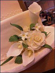 Wedding Cake. Gumpaste flowers. Discerning Magpie Cakes