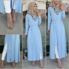 Islamic Fashion, Muslim Fashion, Modest Fashion, Indian Fashion, Fashion Outfits, Street Hijab Fashion, Abaya Fashion, Stylish Dresses For Girls, Stylish Outfits