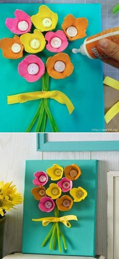 Como Fazer Flor de Caixa de Ovo: 15 Fotos e Ideias - Artesanato Passo a Passo! Kids Crafts, Gifts, Ariel, Jr, Google, Glue Crafts, Egg Carton Crafts, Craft Kids, Diy And Crafts