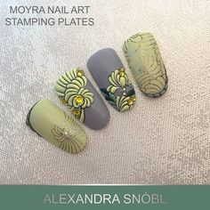 """206 Likes, 1 Comments - Moyra Nail Polish and Stamping (@moyra_nailpolish_and_stamping) on Instagram: """"Nail art with Moyra stamping plate No. 45 I FILL YOU…"""""""