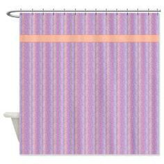 Purple And Orange Stripes Shower Curtain> Even More Shower Curtains> cheriverymery