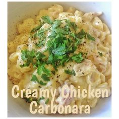 Chicken Carbonara (Thermomix Method Included) « Mother Hubbard's Cupboard Chicken Recipes Thermomix, Thermomix Recipes Healthy, Cooking Recipes, Savoury Recipes, Creamy Chicken Carbonara, Risotto Recipes, Pasta Recipes, How To Cook Pasta, Main Meals
