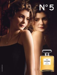 French actress Audrey Tautou landed the role as the 'face' of the iconic Chanel no.5 fragrance in 2009, taking over from Nicole Kidman.