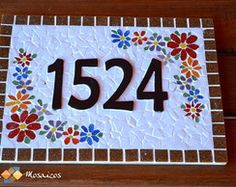 Mosaic Crafts, Mosaic Projects, Mosaic Art, Projects To Try, Mosaics, Mosaic Designs, House Numbers, Home Signs, Creative Crafts