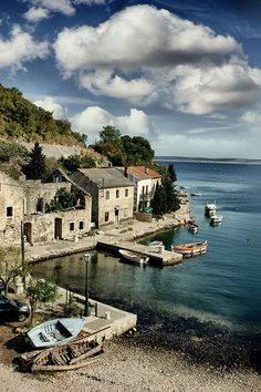 Small harbor near Starigrad, Croatia