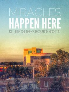 Haulin' with the Oats: Faith, Family, Fun - St. Jude Children's Research Hosptial. Miracles happen here!!!