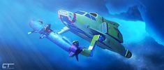 Thunderbird Armed and Dangerous by Chrisofedf Fan Art / Digital Art / Art / TV & Movies Go Tv, Thunderbirds Are Go, Submarines, Digital Art, Arms, Fan Art, Deviantart, Classic, Fun