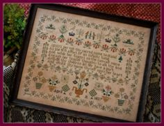 1837 Crown Sampler ~  will do these with Tudor Silks on 5o ct linen