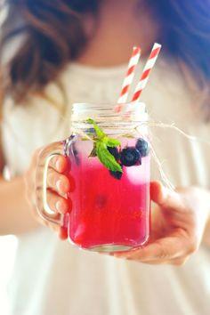 Sparkling Blueberry Lemonade, http://www.savorystyle.com/sparkling-blueberry-mint-lemonade/